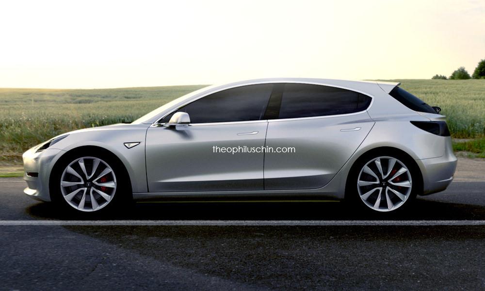 Tesla Model 3 hatchback – viziune pentru clasa compactă