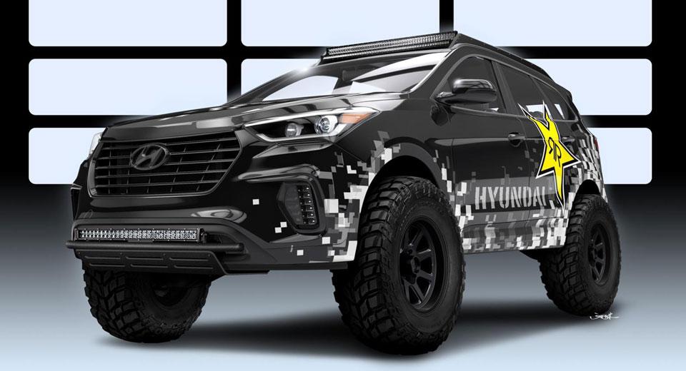 Hyundai & Rockstar au pregătit Santa Fe special pentru SEMA