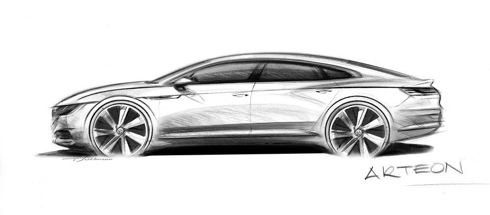 Volkswagen a prezentat prima schiță cu Arteon