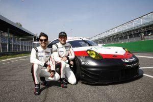 Porsche GT Team: Frederic Makowiecki, Richard Lietz (l-r)