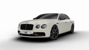 Flying Spur Design Series - Glacier White and Mandarin