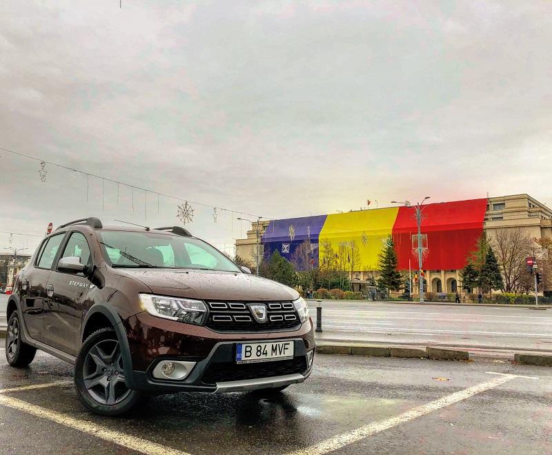 Test cu Dacia Sandero la Târgul de Crăciun de la Sibiu