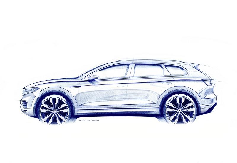 Teaser cu noul VW Touareg