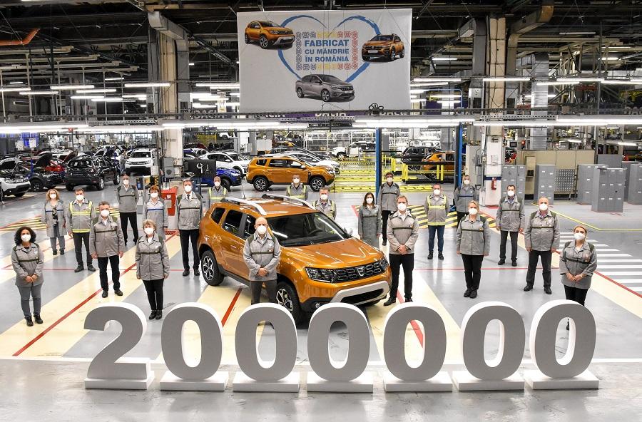 Dacia a produs la Mioveni Dusterul cu numărul 2.000.000